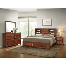 Asger King Platform Customizable Bedroom Set by Roundhill Furniture