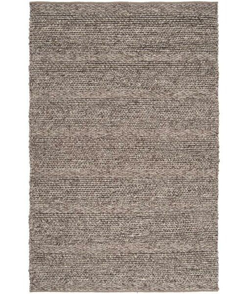 Soto Handwoven Wool Taupe Area Rug by Union Rustic
