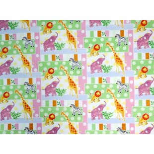 Price Check Jungle Animals and Dots Portable Mini Fitted Crib Sheet By Sheetworld