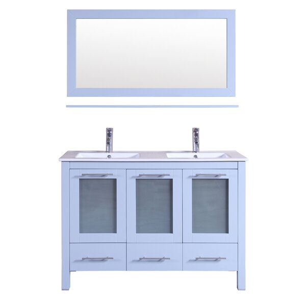 48 Double Bathroom Vanity with Mirror by Kokols