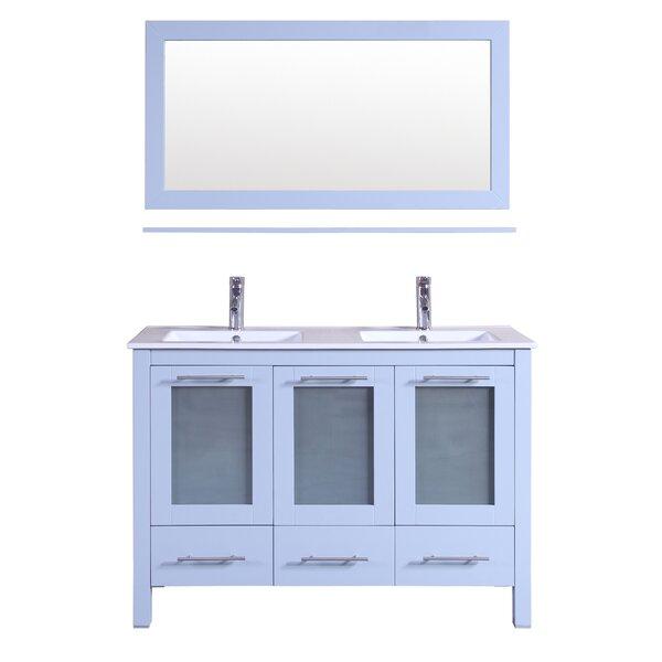 48 Double Bathroom Vanity with Mirror by Kokols