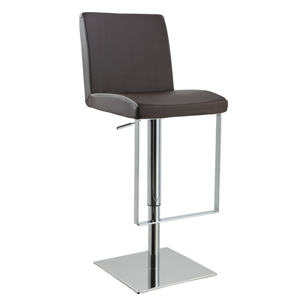 Clower Contemporary Adjustable Height Swivel Bar Stool by Orren Ellis