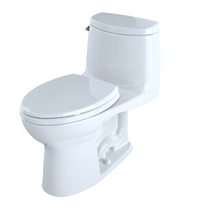 Ultramax II 1.28 GPF (Water Efficient) Elongated One-Piece Toilet with Glazed Surface (Seat Included) By Toto