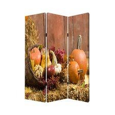 72 x 48 Harvest 3 Panel Room Divider by Screen Gems