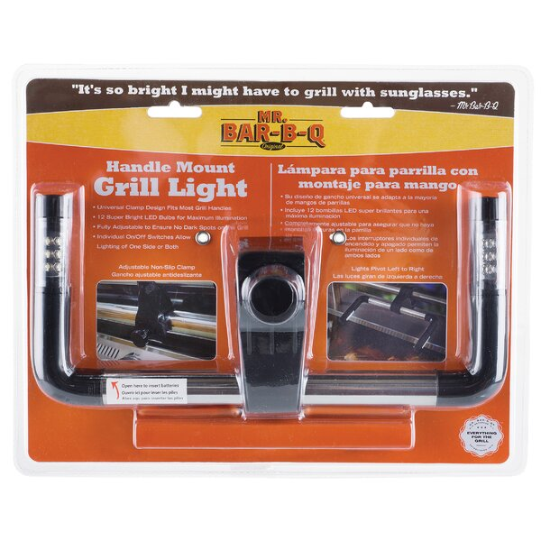 12 LED Handle Mount Grill Light with Clamp by Mr. Bar-B-Q
