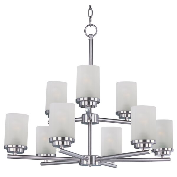 Callender 9 - Light Shaded Tiered Chandelier by Latitude Run Latitude Run