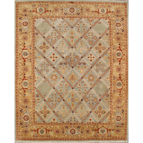 Bakhshayesh Hand-Knotted Light Blue Area Rug by Pasargad