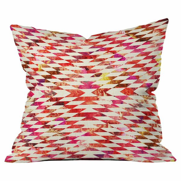 Bianca Green Floral Explosion Outdoor Throw Pillow by Deny Designs