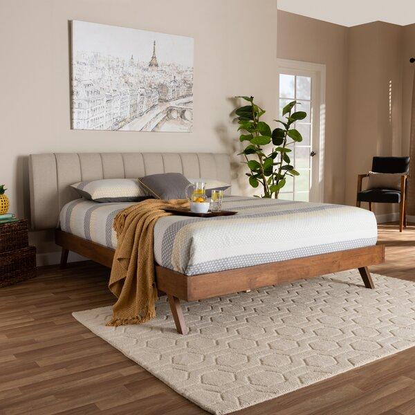 Britten Mid-Century Modern Upholstered Platform Bed by Corrigan Studio