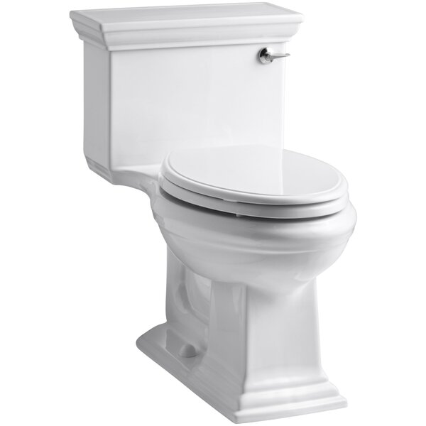 Memoirs Stately Comfort Height One-Piece Elongated 1.28 GPF Toilet with Aquapiston Flush Technology and Right-Hand Trip Lever by Kohler