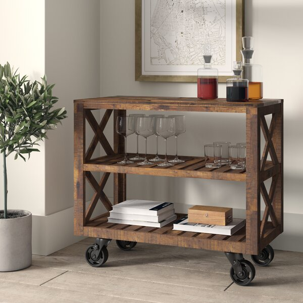 Telfair Rectangular Bar Cart by Greyleigh