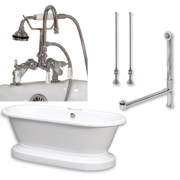 70 x 30 Freestanding Soaking Bathtub by Cambridge Plumbing
