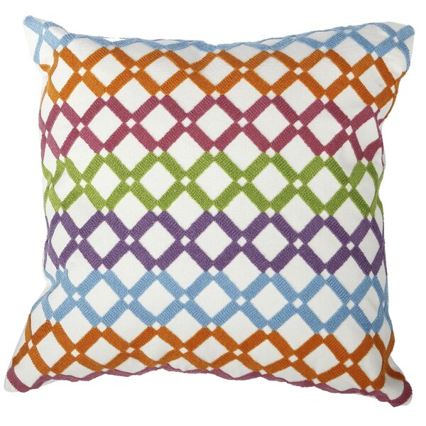 Embroidered Cotton Lumbar Pillow by A&B Home