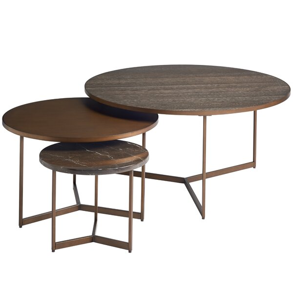 Spinks Coffee Table With 2 Nested Stools By Brayden Studio
