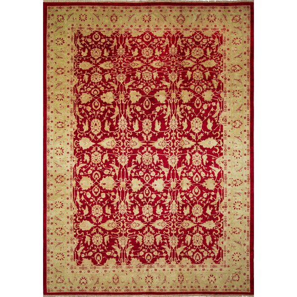 One-of-a-Kind Acree Hand-Knotted Red Area Rug by Isabelline