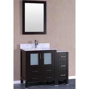 Savings Lucey 42 Single Bathroom Vanity Set with Mirror ByBreakwater Bay