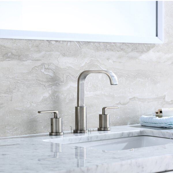 Contemporary Widespread Handle Bathroom Faucet by
