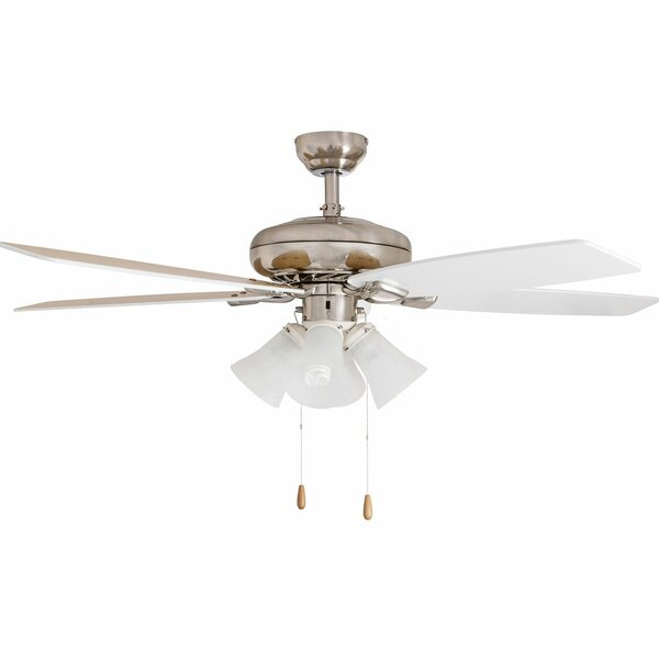 52 Redfern Contemporary Indoor 5 Blade Ceiling Fan with Remote by Andover Mills