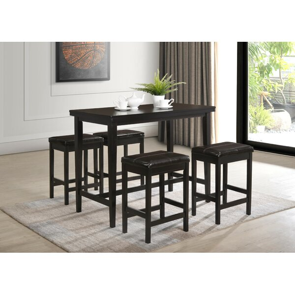 Keane 5 Piece Counter Height Dining Set by Red Barrel Studio
