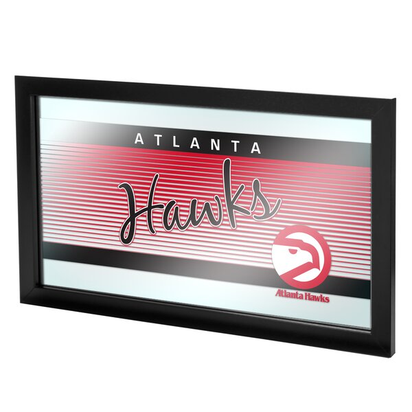 NBA Hardwood Classics Framed Logo Wall Mirror by Trademark Global