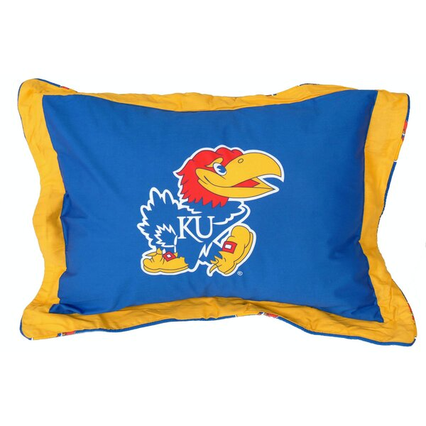 NCAA Kansas Pillow Sham by College Covers