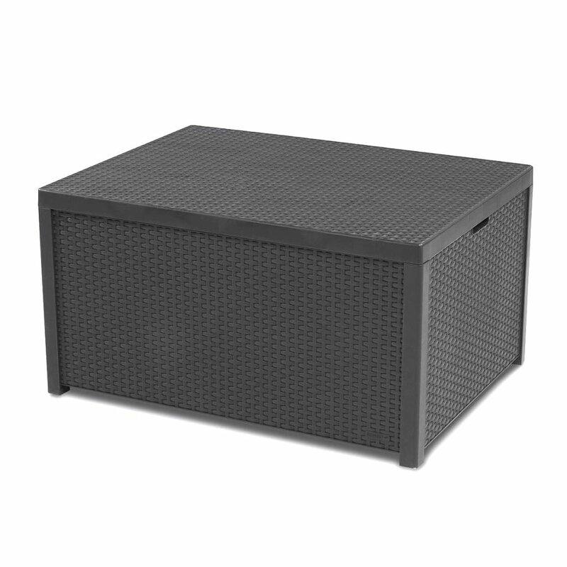 vidaxl 195 l aufbewahrungsbox aus kunststoff bewertungen. Black Bedroom Furniture Sets. Home Design Ideas