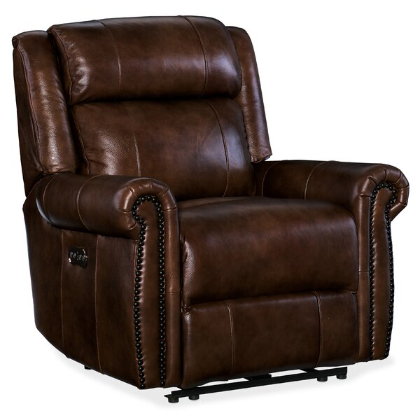 Esme Leather Power Recliner with Power Headrest by Hooker Furniture