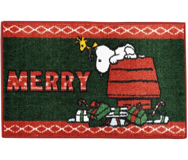 Peanuts Buddies Green/Red Area Rug by Nourison