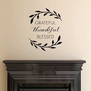 ... Grateful Thankful Blessed Wall Quotes Decal ... Part 58