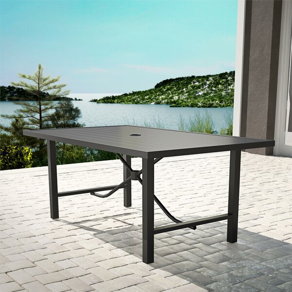 Macleod Metal Dining Table by Ebern Designs