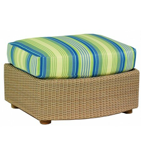 Oasis Ottoman with Cushion by Woodard