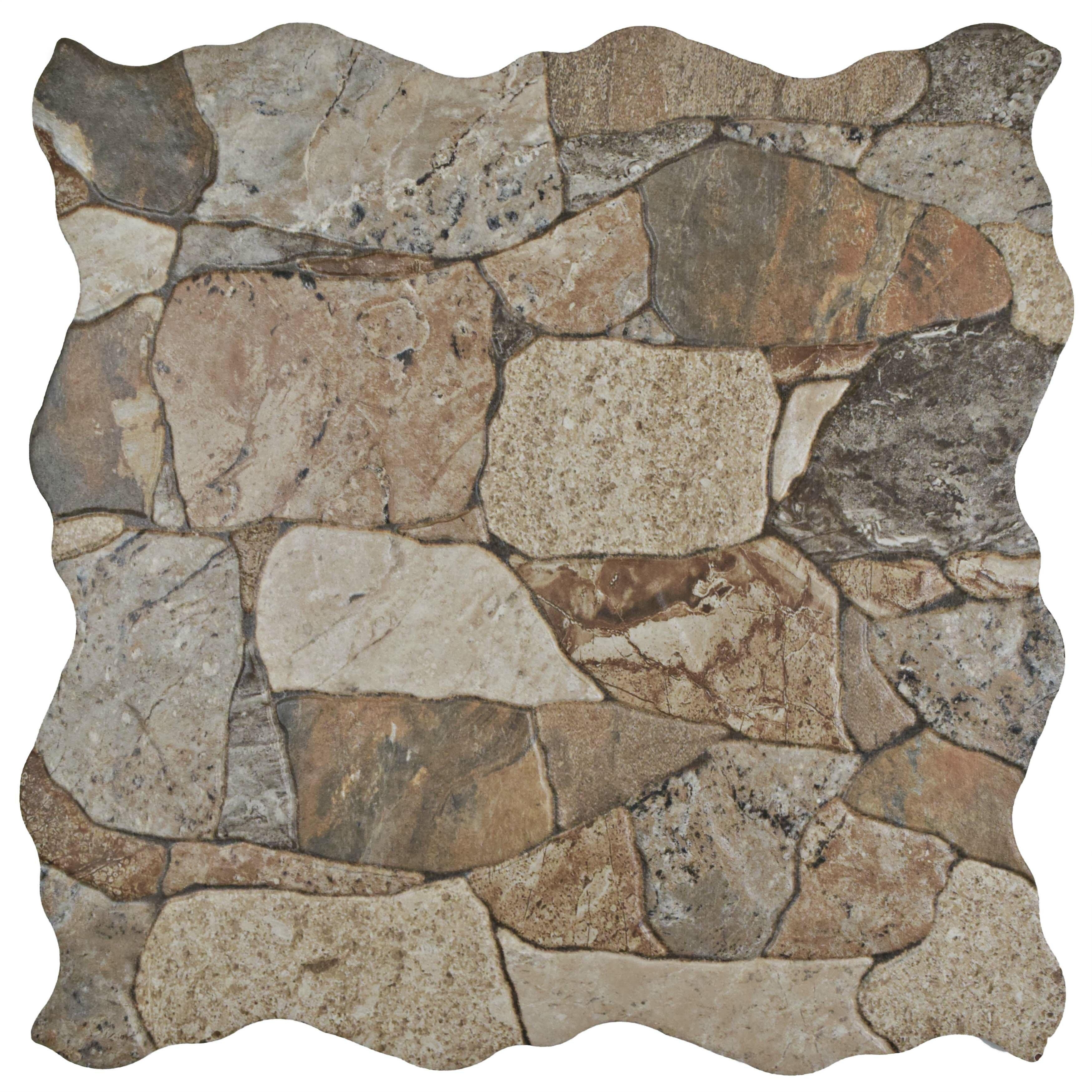 Bathroom tile youll love wayfair atticas random sized ceramic splitface tile in brown dailygadgetfo Images