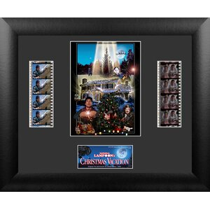 National Lampoon's Christmas Vacation Double FilmCell Presentation Framed Vintage Advertisement