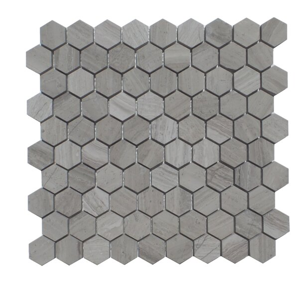 1.25 x 2 Natural Stone Mosaic Tile in Escarpment Light by Mulia Tile