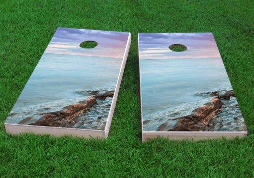 Pink Sky Cornhole Game (Set of 2) by Custom Cornhole Boards