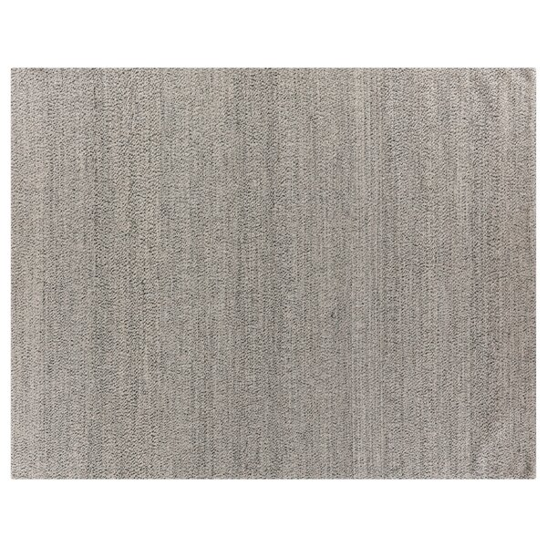 Hand-Woven Wool Silver Area Rug by Exquisite Rugs
