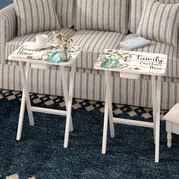 Jimmy Forever Home 2 Piece Tray Table Set by August Grove