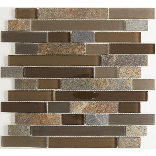 Pelham Random Sized Mixed Material Mosaic Tile in Saddle by Itona Tile