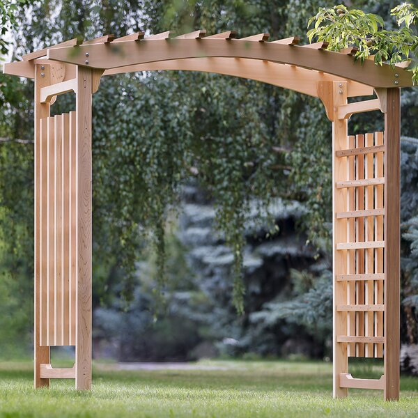 Pagoda Wedding Wood Arbor by All Things Cedar