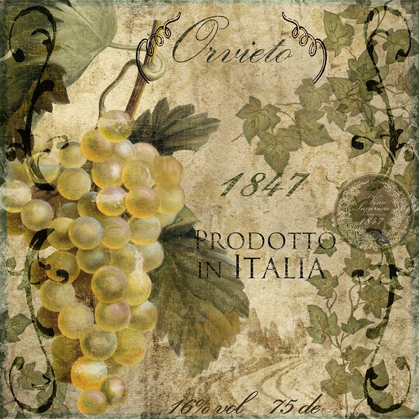Vino Italiano Iv Graphic Art Print By Fleur De Lis Living.
