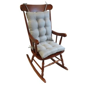 2 piece rocking chair cushion