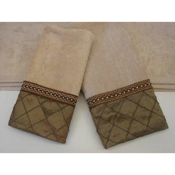 Pleated Diamond Decorative 3 Piece Towel Set by Sherry Kline
