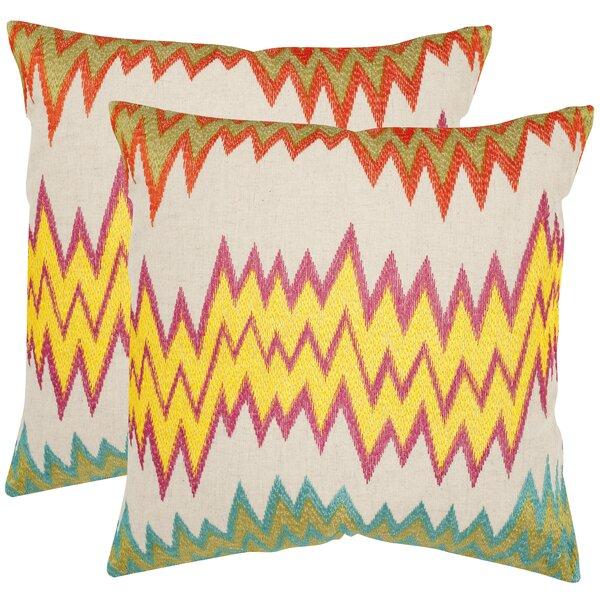 Ashley Newport Cotton Throw Pillow (Set of 2) by Safavieh