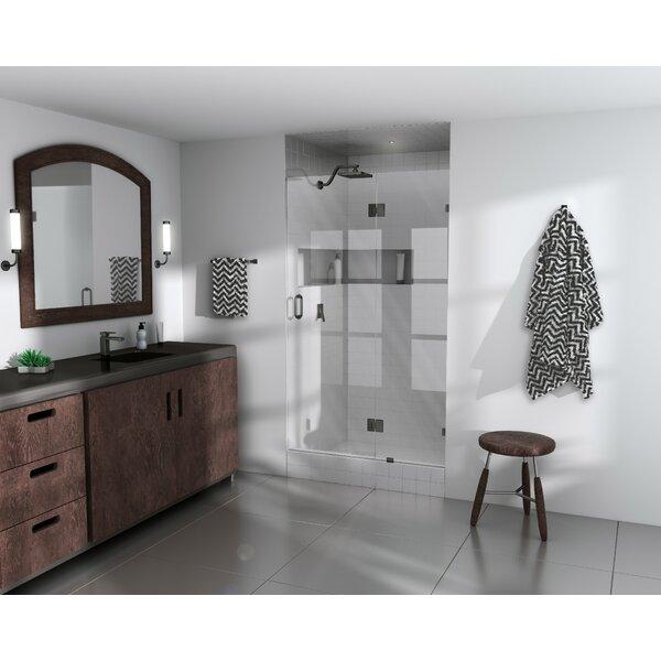 56.5 x 78 Hinged Frameless Shower Door by Glass Warehouse