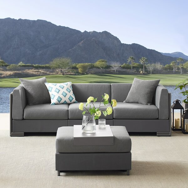 Barnsley 4 Piece Sectional Seating Group with Cushions by Brayden Studio