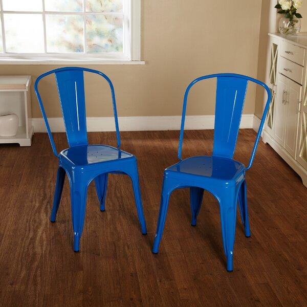 Kunkle Metal Slat Back Side Chair (Set Of 2) By Trent Austin Design