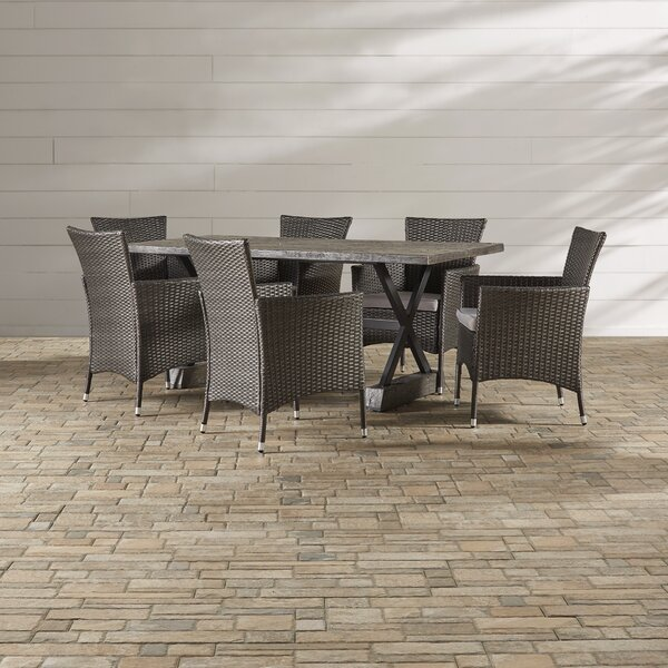 Catalan 7 Piece Dining Set with Cushions by Brayden Studio