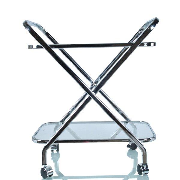 Barragan X-Shape Bar Cart by Everly Quinn Everly Quinn