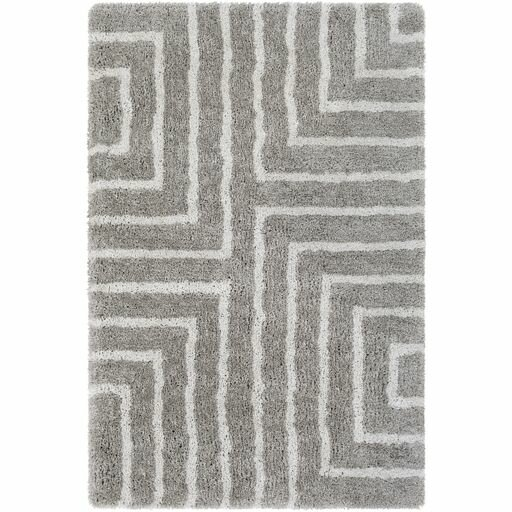 Annie Geometric Hand-Tufted Taupe/Ivory Area Rug by Orren Ellis