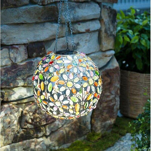 Hanging Solar Butterfly Jewel Ball Gazing Globe by Plow & Hearth